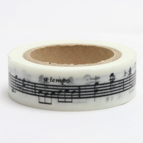 "Disok – Washi Tape motivo ""nota musicale'"