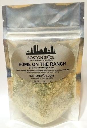 Boston Spice Home On the Ranch Herb Seasoning Blend Dairy Free Paleo Diet Herbal Salad Dressings Vegetables Dip Chicken Poultry Wings Popcorn Corn On The Cob (Approx. 1 Cup of Spice)