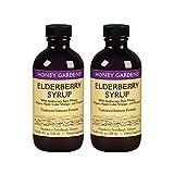 Honey Gardens Elderberry Syrup w/Apitherapy Raw Honey, Propolis & Elderberries | Immune Formula | 2 Pack