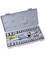 Automatic hand-held kit with grain and screw heads 40 pieces