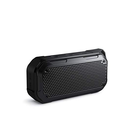 Bluetooth Lautsprecher Wasserdicht, KIYEDAM 12w Musikbox Bluetooth, 12 Stunden Spielzeit Bluetooth Speaker Bluetooth mit Satter Bass TWS/Mikrofo/Aux/Tf-Karte, Musikbox für Ourdoor Sport - Schwarz