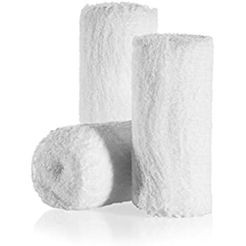 6-Pack Sterile Gauze Medical Bandage Fluff Wrap Rolls - 100% Cushioned Cotton - Latex Free - Hospital Grade Quality – Super Absorbent & Resistant – 4-Yard