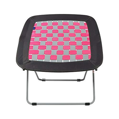 ZYLE Silla de Rebote Silla Plegable Silla reclinable Lazy Sofá Oficina Ocio al Aire Libre Siesta Asiento Enrejado Gris Sección 82 × 67 × 78cm