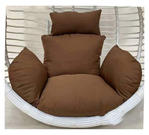 DYYD - Cojín para silla de huevo, cesta de mimbre para muebles al aire libre o patio colgante cesta de mimbre para columpio (color: latón)