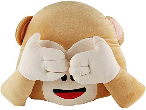 WUKONG99 33 cm Affe Plüschtier Emoji Emoticon Kissen gefüllt Plüsch Spielzeug Cartoon Tier Kissen (B)