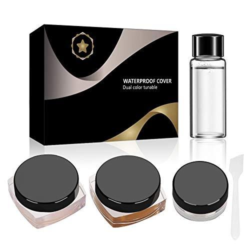 Scar Concealer, Tattoo Concealer,Waterproof Concealer, Tattoo Cover up Makeup/Body Concealer (Black)