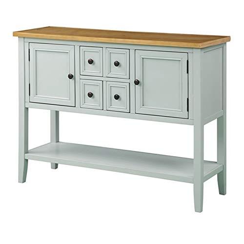 BTTNW Aparador Muebles de Cocina Aparador de Buffet Aparador de Mesa con Estante Inferior Gabinete de Cocina Moderno Adecuado para Salas De Restaurante (Color : Verde, Size : 117x38x86cm)