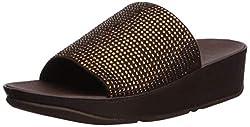 Bronze Ginny Glitz Pool Slide Sandal