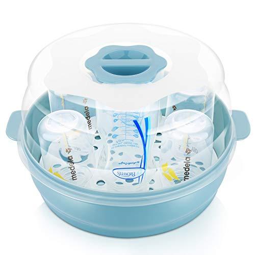 GOLOHO Baby Bottle Microwave Steam Sterilizer - Fit 6 Baby Bottles