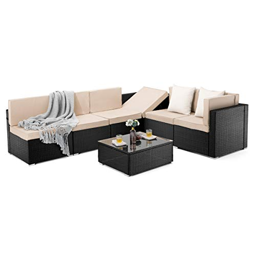 PAMAPIC 7 Pieces Patio Furniture...