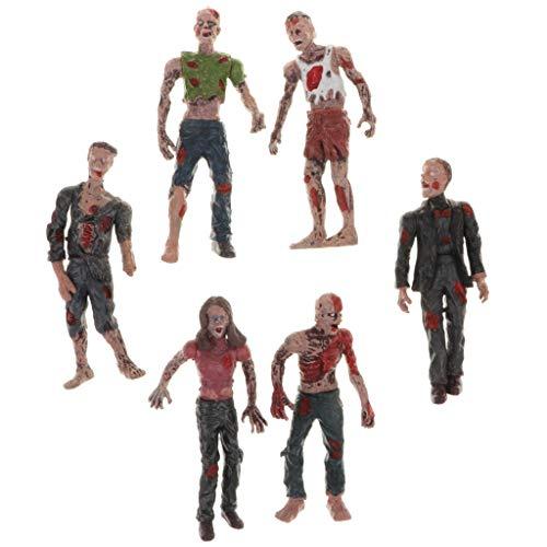 B Blesiya 6X Figura de Acción Modelo de Zombies Plástico con Brazo Cuerpo Desmontable Regalo de Broma para Niños Adultos