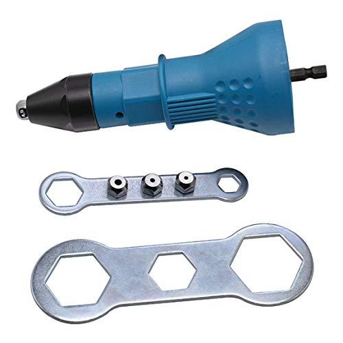 SeniorMar-UK DBSUFV Remachadora eléctrica Pistola de Remaches Adaptador Núcleo Pistola de Remaches...
