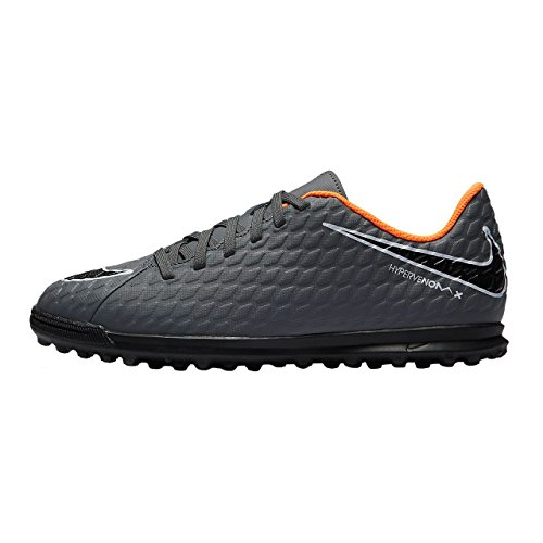 Nike Jr Phantomx 3 Club Tf, Scarpe da Fitness Unisex-Adulto, Multicolore (Dark Grey/Total Oran 081), 38.5 EU