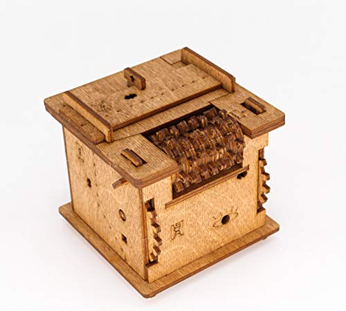 iDventure Cluebox - EIN 60 min Escape Room in Einer Box. Schrödingers Katze. 3D Puzzle - Denkspiel - Knobelspiel - Geduldspiel - Logikspiel 3D Holzpuzzle. Geschenkverpackung. Questbox