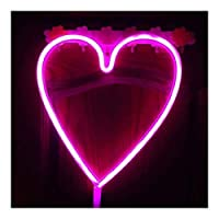 ファッション装飾 ネオンサインは、LEDレインボーネオンライト、様々な形状ネオンサインは棒に適しており、レストラン、KTV 家族でのパーティー、誕生日パーティー、雰囲気 (Color : B Pink Heart)