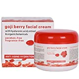 A blend of nutrient rich organic goji berry with specially selected health-promoting skin care ingredients including hyaluronic acid and retinol The moisturizing function of this essential cream can make the skin fuller, improve the dry state of the ...