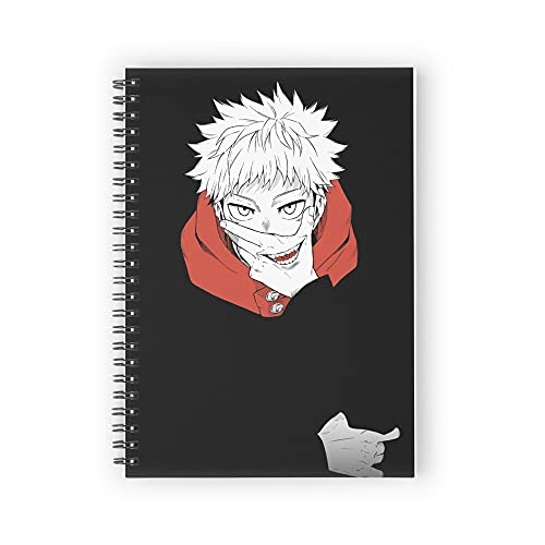 Itadori Jujutsu Kaisen Spiral Notebooks 160 Pages, Pages with Premium Thick Paper, Strong Twin-Wire Binding for College Students and Office