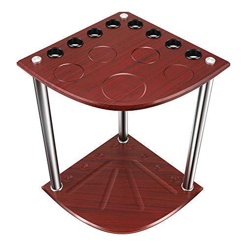 TTLIFE Portastecche 8 Stecche da Biliardo con 8 Stecche con Segnapunti Scegli Mogano Realizzato in Rovere Adatto per Porte Palestre/Palestre Centri Giochi/Intrattenimento Pubblico