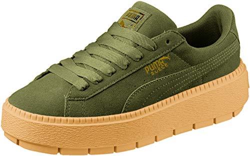 PUMA - Womens Platform Trace Shoes, Size: 9 B(M) US, Color: Olive Night