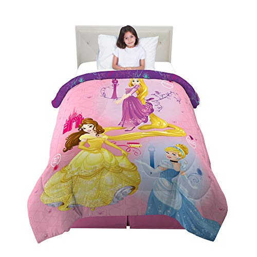 Franco Kids Bedding Super Soft Reversible Comforter, Twin/Full Size 72' x 86', Disney Princess