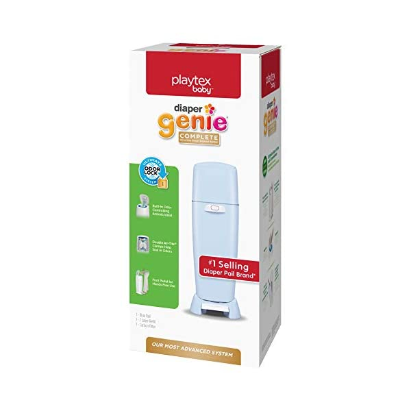 Playtex Diaper Genie Complete Assembled Diaper Pail with Odor Lock Technology & 1 Full Size Refill