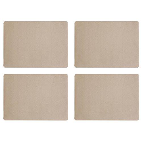 Lot de 4 sets de table en cuir, pierre 46 x 33 cm, aspect cuir