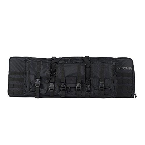 Valken Jungen V-Tac Tactical 42-Inch Double Rifle Gun Case, Black Pistolenkoffer, Schwarz, m