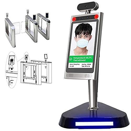 Sistema di sicurezza Riconoscimento facciale 3D Termometro a infrarossi Misurazione della temperatura di sicurezza per identificare la presenza facciale Sistema di sicurezza per allarme febbre alta