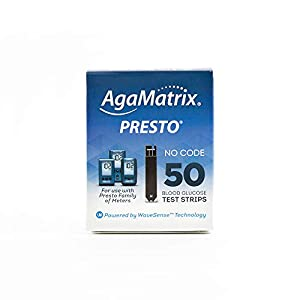 buy  AgaMatrix WaveSense Presto Test Strips, 50 Count ... Blood Glucose Monitors