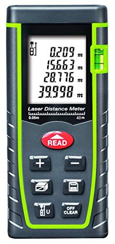 ARAS Laser Distance Meter 40m, Portable Handle Digital Measure Tool Range...