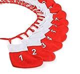 Anstore Adventskette mit Socken, Adventskalender zum selber befüllen, 18x20cm
