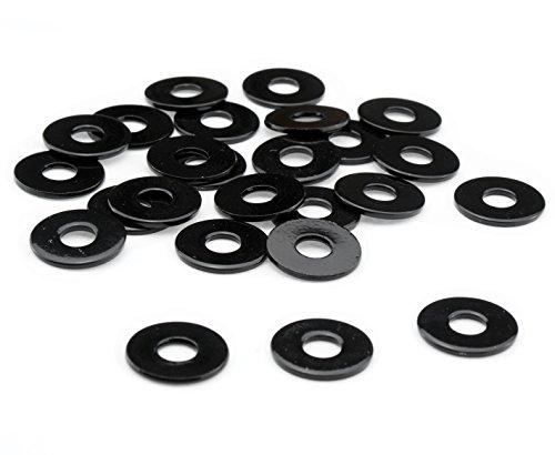 Unterlegscheiben M6 M8 Edelstahl V2A Scheibe DIN 9021 extra breit rostfrei schwarz glänzend pulverbeschichtet kratzfest, Gewinde:M6, Menge:10er Set