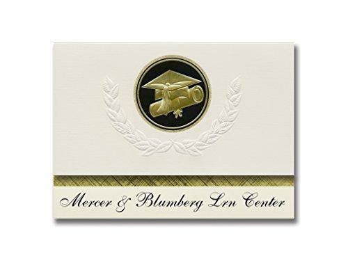 Signature Announcements Mercer & Blumberg Lrn Center (Seguin, TX), Abschluss-Ankündigung, Presidential Style, Elite Paket mit 25 Cap & Diplom-Siegel, Schwarz & Gold