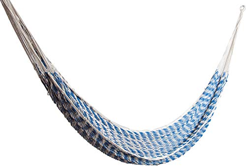 ALL NAHLO Cotton Double Hammock Portable Lightweight Hammocks Swing Person Tree Stand Camping Rope Outdoor Tent net Straps Bed Fabric Quilted Patio Kids Mosquito Camp Pillow