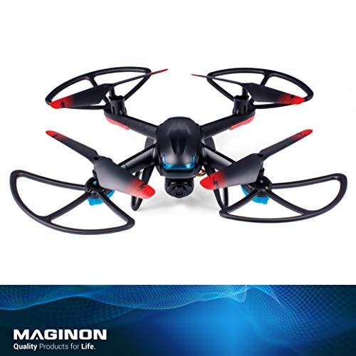Maginon Quadrokopter QC-50 S WiFi, WiFi Bildübertragung - inklusive HD-Kamera, optimal für Anfänger geeignet durch Headless Flugmodus, eingebautes 6-Achsen Gyrokop für stabile Fluglage