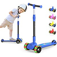 Megawheels Kids' 3-Wheeled Scooter with LED Lights