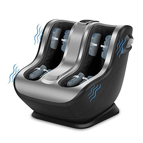 Comfier Foot and Calf Massager, Shiatsu Foot Massager Machine,3 Modes,2 Intensities,Kneading & Squeeze Feet Massager with Vibration,for Circulation,Plantar Fasciitis