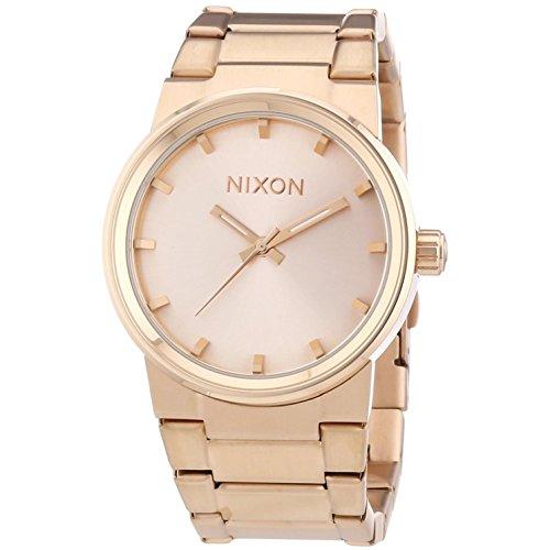 Nixon 0 - Reloj de Cuarzo para Hombre, con Correa de Acero Inoxidable, Color Dorado