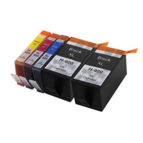 Abakoo Merotoner - Cartuchos de tinta de repuesto para HP 920XL 920 XL para HP Officejet 6000 6000A 6500 6500A 7000 7500 7500A 6500 W 7000 SE 6000 XXL (2BK & 1C/1M/1Y)
