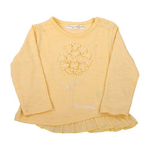 Mayoral - Camiseta de Manga Larga - Floral - para bebé niña Amarillo 12 Meses