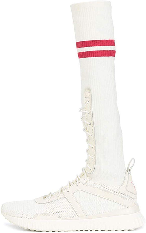 LIURUIJIA Women's Breathable Stretch Textured Sole Sock Boot TLWZX-18058-03