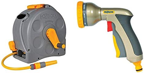 Hozelock 2415 0000 Compact 2in1 Reel with 25m Hose