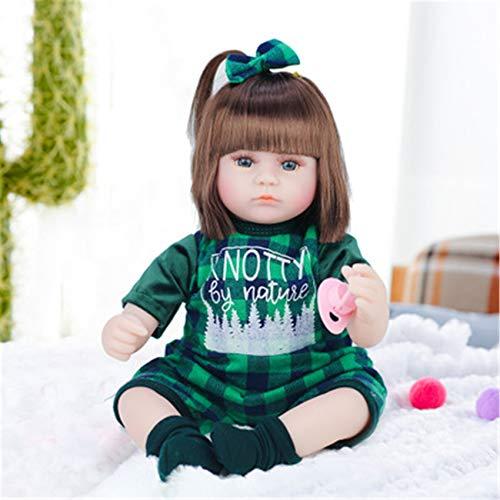 FR&RF 42CM Reborn Bebe Doll 16 Pulgadas Cuerpo de Tela de Silicona Vinilo para Dormir Adorable Realista Niño niña Regalo de cumpleaños para niños,13