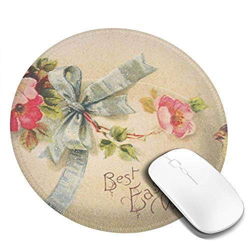 "Best Easter Wishes Mouse Pad,Anti Slip Natural Rubber Mouse Mat for Desktops,Computer,Pc and Laptops,for Home/Office Working and Gaming,7.9"" X 7.9"""