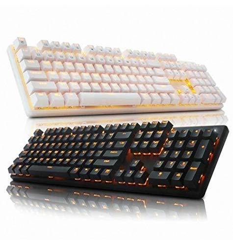 ABKO Hacker K590 Quick Swap Switch Mechanical Gaming Keyboard (English/Korean Keycaps) (Black, Blue Switch)