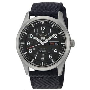 Fashion Shopping SEIKO Men's SNZG15 SEIKO 5 Automatic Stainless Steel Watch with Nylon Strap