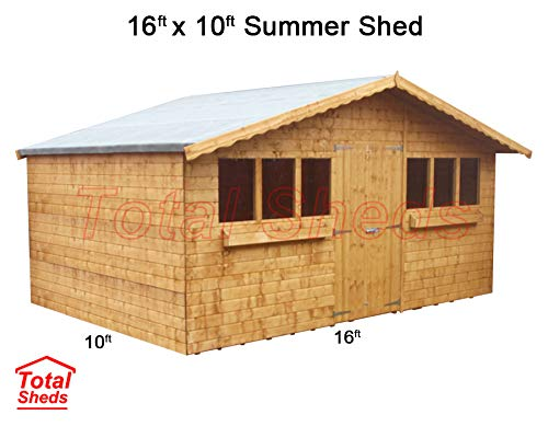 Total Sheds 16ft (4.8m) x 10ft (3.0m) Garden Shed Summer Shed Timber Shed