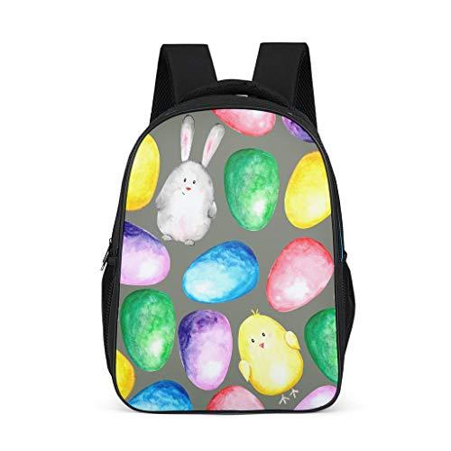 O3XEQ-8 Easter Rabbit - Mochila Escolar Ligera para niña, d