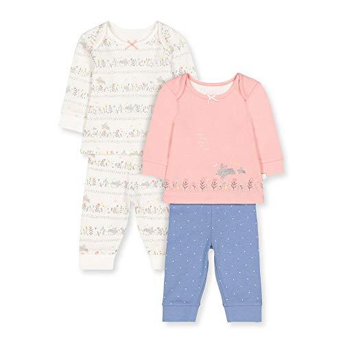 Mothercare Io G Lovely Bunny 2pk Pj Pigiama, Nero (Multi 1), Tiny Baby (Manufacturer Size:50) Unisex-Bimbi