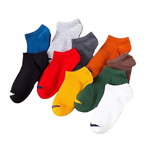 YWRD Calcetines Antideslizantes Hombre Calcetines Ciclismo Hombres Calcetines de algodón para Hombre Calcetines Blanco de los Hombres